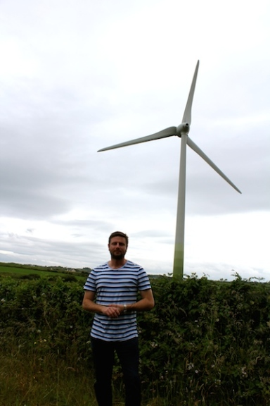 Liam was very impressed by the Wind Turbines - we literally drove for 1/2 hour off the road round just to get close to one