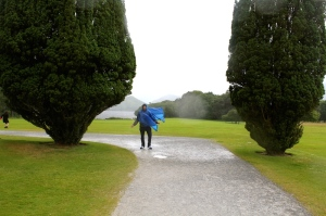 Braving the weather - Muckross Estate