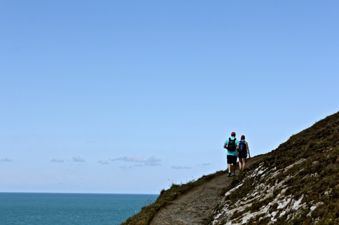 Hiking along Baggy Point, Devon